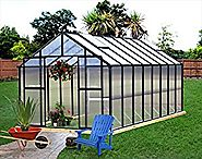 Monticello Greenhouse 16FT Black