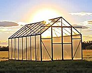 Grandio Ascent 8x16 Greenhouse Kit - 6mm Twin-Wall Polycarbonate