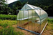 9x14 6-MM Twin-wall Polycarbonate Greenhouse, ClimaPod Virtue Complete kit
