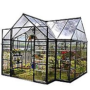 Palram Four Season Chalet Hobby Greenhouse - 12 x 8 x 9 Charcoal Gray