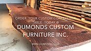 Dumonds Custom Furniture live edge conference tables / Boardroom Tables