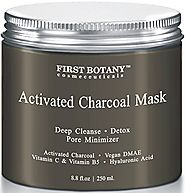 The BEST Charcoal Creme Mask 8.8 fl. oz.- Best for Facial Treatment, Minimizes Pores & Reduces Wrinkles, Acne Scars, ...