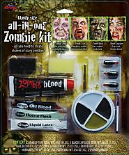 Family Size All In One Zombie Kit Costume Makeup