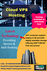 Cloud VPS Hosting - Available at Affordable Cost