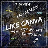 Image editing sites like Canva in 2017. List of good and free graphics editing sites. - How to be Visible?