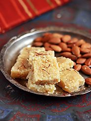 Badam burfi recipe | Diwali 2015 sweets recipes