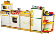 Cardboard Cutout Play Food for Kids Kitchen Playsets