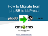 How to Migrate from phpBB to bbPress