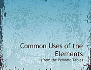 Common Uses of Elements of the Periodic Table - Photo Book