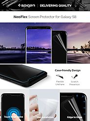 Spigen Galaxy S8 Screen Protector NeoFlex / 2 Pack / Flexible Film / Case Friendly for Samsung Galaxy S8