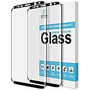 [2-PACK] MP-Mall For Samsung Galaxy S8 Screen Protector [Tempered Glass] [Full Cover] with Lifetime Replacement Warra...