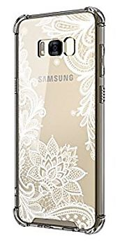 Galaxy S8 Case,Cutebe Shockproof Hard PC+ TPU Bumper Case Scratch-Resistant Cover for Samsung Galaxy S8 (2017) Lace F...