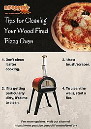 Tips for cleaning your wood fired pizza oven