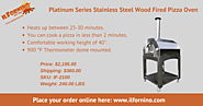 Platinum Series Stainless Steel Wood Fired Pizza Oven