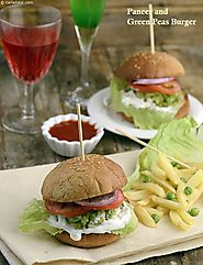 Paneer and Green Peas Burger