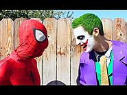 Joker vs Spiderman - Real Life Superhero Battle! Death Match Fight