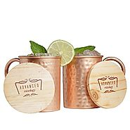 Advanced Mixology 16-Ounce Set of 2 Moscow Mule Copper Mugs, Classic