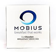 Mobius Breakfast Meal Replacement, Rich Dark Chocolate Flavored Powder, 2.5 oz. (Pack of 15)