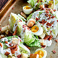 Iceberg Wedge Salads with Soft-Boiled Eggs and Grilled Bacon