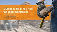 5 steps to help you hire the right contractor