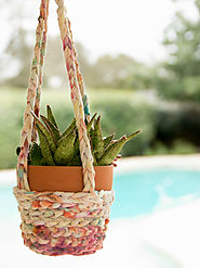 Tie-Dye T-Shirts Turned Boho Hanging Baskets - Jennifer Perkins