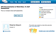 APA Documentation of Web Sites: #1 Self Assessment