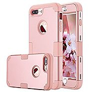LONTECT case-01g iPhone 7 Plus Case Hybrid Heavy Duty Shockproof Full-Body Protective Case with Dual Layer