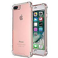iPhone 7 Plus Case,Yoyamo iphone 7 plus Crystal Clear Cover Case [Shock Absorption] with Transparent Hard Plastic Bac...