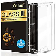 iPhone 7 Screen Protector,[4.7inch][3 Packs]by Ailun,2.5D Edge Tempered Glass for iPhone 7,iPhone 6/6s,Anti-Scratch,C...