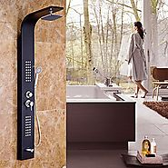 66 Inch Chrome Contemporary Painting Stainless Steel Shower Faucet