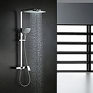 Contemporary Chrome Brass Waterfall Shower Faucet with Shower Head