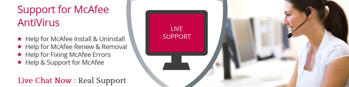 Headline for Looking for Professional McaFee Antivirus Tech Support , McaFee Customer care number