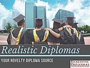Realistic Diplomas - Your Novelty Diploma Source