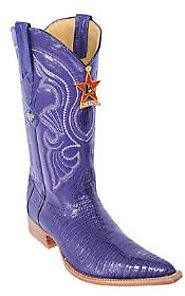Shiny Exotic Purple Cowboy Boots