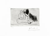 Couple au bored d L'eau - Signed Picasso Print - John Szoke