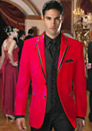 Wear Red Tuxedo Jacket And Create A Fabulous Look