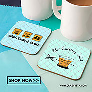 Wooden Coasters- Durable Set of Cup Accessory