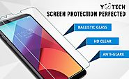 LG G6 Screen Protector, Yootech [2-Pack] LG G6 Tempered Glass Screen Protector [ANTI-SCRATCH] [BUBBLE-FREE][ULTRA-CLE...