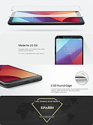 SPARIN LG G6 Screen Protector, LG G6 Tempered Glass Screen Protector with Scratch-Resistance, 9H Hardness, Easy Insta...