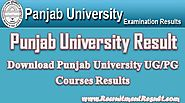 Download Punjab University Result 2017–18 Online UG/PG Exam Performance Report