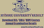 Mysore University Result 2017-18| UG / PG Semester Mysore University Report Card