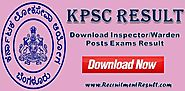 KPSC Result 2017–18 Download Karnataka PSC Exams Online PDF Report