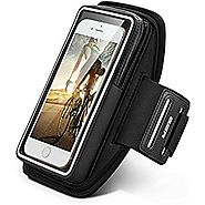"Sports Armband, ESR Universal Water Resistant Exercise Armband Running Pouch Touch fit up to 5"" Phone Apple iPhone 7/..."