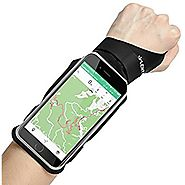 LENTION iPhone 7 Plus/6s Plus/6 Plus Touch Screen Forearm Band, Wristband, Running Armband with Key ID Cash Holder fo...