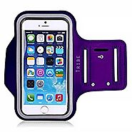 Tribe Water Resistant Sports Armband with Key Holder for iPhone 6, 6S (4.7-Inch), Galaxy S3/S4, iPhone 5/5C/5S, Bundl...