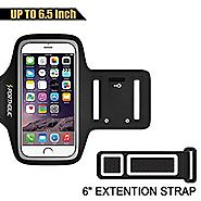 PORTHOLIC Sports Armband for iPhone 7 Plus 6s Plus 6 Plus, Galaxy S8 Plus, LG G5 Note 3/4/5 with case (fits with larg...