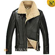 London Mens Sheepskin Bomber Jacket CW861235