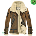 Mens Sheepskin Bomber Jacket CW877168