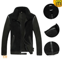 Mens Sheepskin Flight Jacket Black CW878365