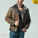 Mens Shearling Bomber Jacket CW877049